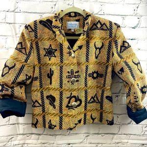Deborah Murray western themed tweed jacket